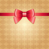 Red bow — Stock Vector