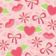 Pink seamless pattern — 图库矢量图片