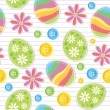 Stock Vector: Easter seamless pattern