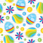Easter seamless pattern — Stock Vector