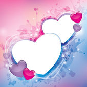 Abstract background with hearts — 图库矢量图片