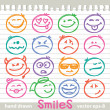 Set of smiles — Stock Vector #9442025