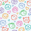 Royalty-Free Stock Vector Image: Pattern of smiles