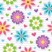 Wzór naklejki kwiat — Wektor stockowy