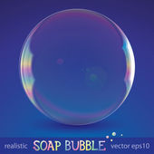 Soap bubble — Stock Vector