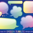 Glossy speech bubbles — Stock Vector
