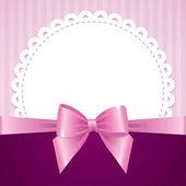ροζ φόντο με φιόγκο — Διανυσματικό Αρχείο