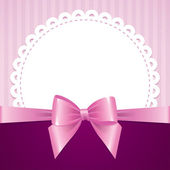 Pink background with bow — Vettoriale Stock