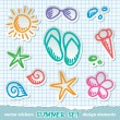 Summer symbols — Stock Vector