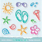 Summer symbols — Stock Vector