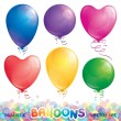 Stock Vector: Set of balloons