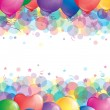 Background with balloons — Stock Vector #9762435