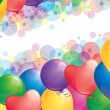 Stock Vector: Background with balloons