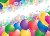 Background with balloons — Stock Vector