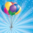 Background with balloons — Imagen vectorial