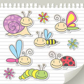 Sada hmyzu — Stock vektor