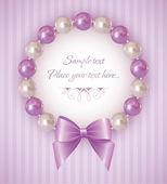 Fondo con pulsera de perlas — Vector de stock