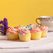 Pastel colored cupcakes — Stock Photo #10146561