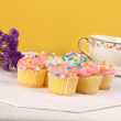 Pastel colored cupcakes — Stock Photo #10146569
