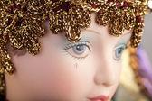 Traurig karneval puppe — Stockfoto