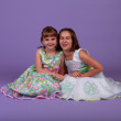 Two girls in spring dresses — Stock Photo #10643165