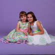 Two girls in spring dresses — Stock Photo #10643167
