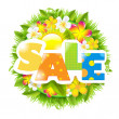 Stock Vector: Summer And Spring Sale Template