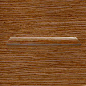 Glass Shelf On Wooden Background — Stock Vector