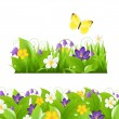 Flowers Borders Set — Stock Vector #10682397