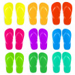 Flip Flops Set — Stock Vector #10682450