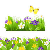 Flowers Borders Set — Stock Vector