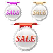 Sale Stickers Set — Stock Vector
