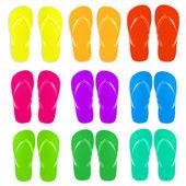 Flip-flops satz — Stockvektor