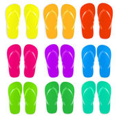 Flip flops set — Stockvector