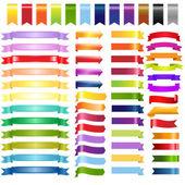 Duże kolorowe wstążki web i strzałki — Wektor stockowy