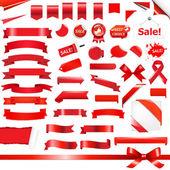 Conjunto rojo grande — Vector de stock