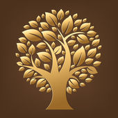Gold Tree — Stock Vector