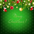 Vector de stock : Merry Christmas Silver And Blue Composition