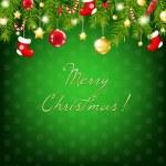 prata de Natal feliz e azul composição — Vetorial Stock