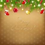 Navidad y feliz año nuevo composición — Vector de stock  #8028849