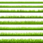 Green Grass Border — Stock Vector
