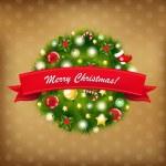 composição vintage de Natal feliz — Vetorial Stock