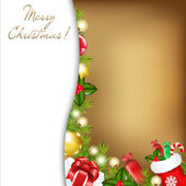 Christmas Vintage Illustration — Stock Vector