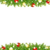 Xmas And Happy New Year Border — Stock Vector