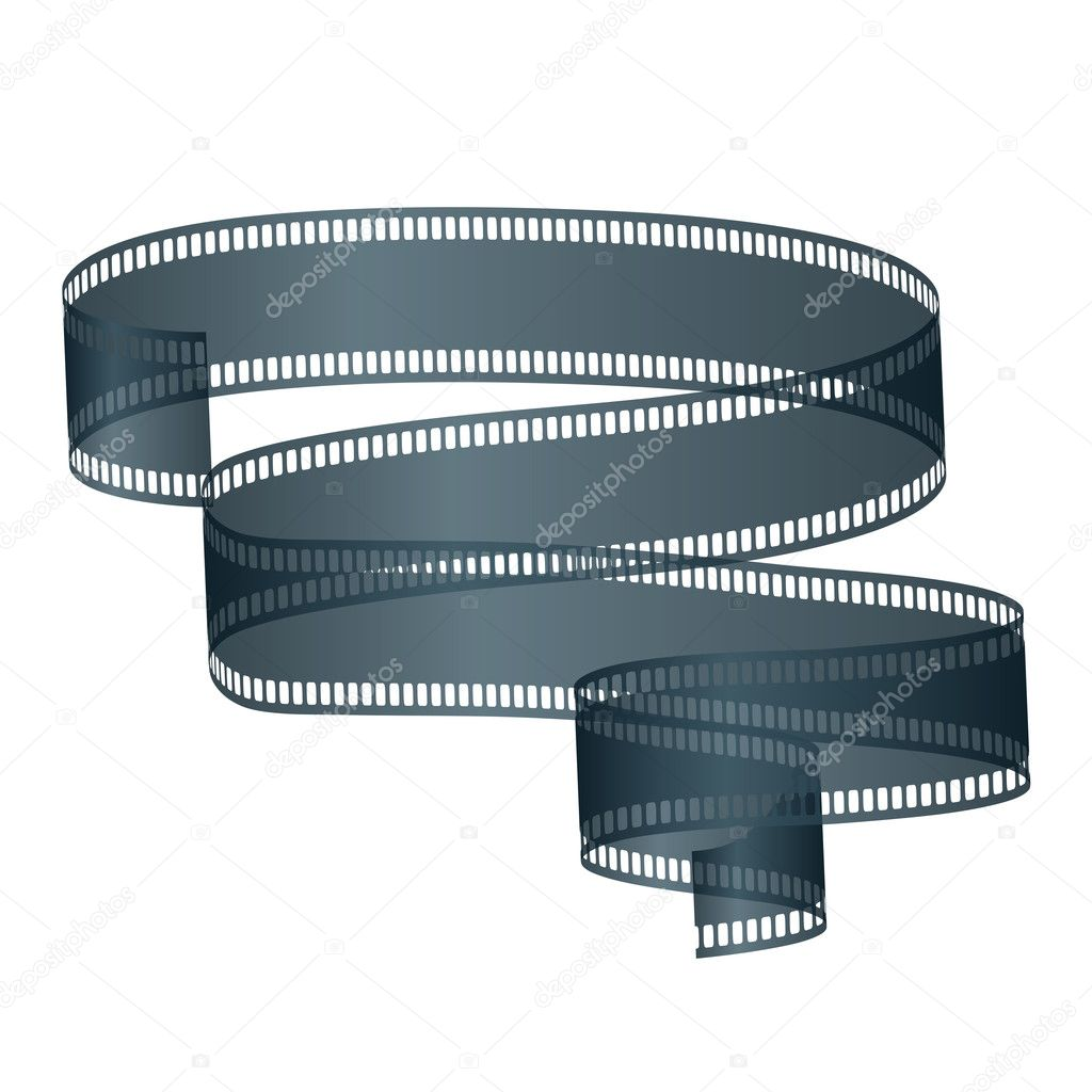 Movie Film, Isolated On White Background, Vector Illustration  Stock Vector #8166322