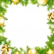 Christmas Background With Border — Stock Vector
