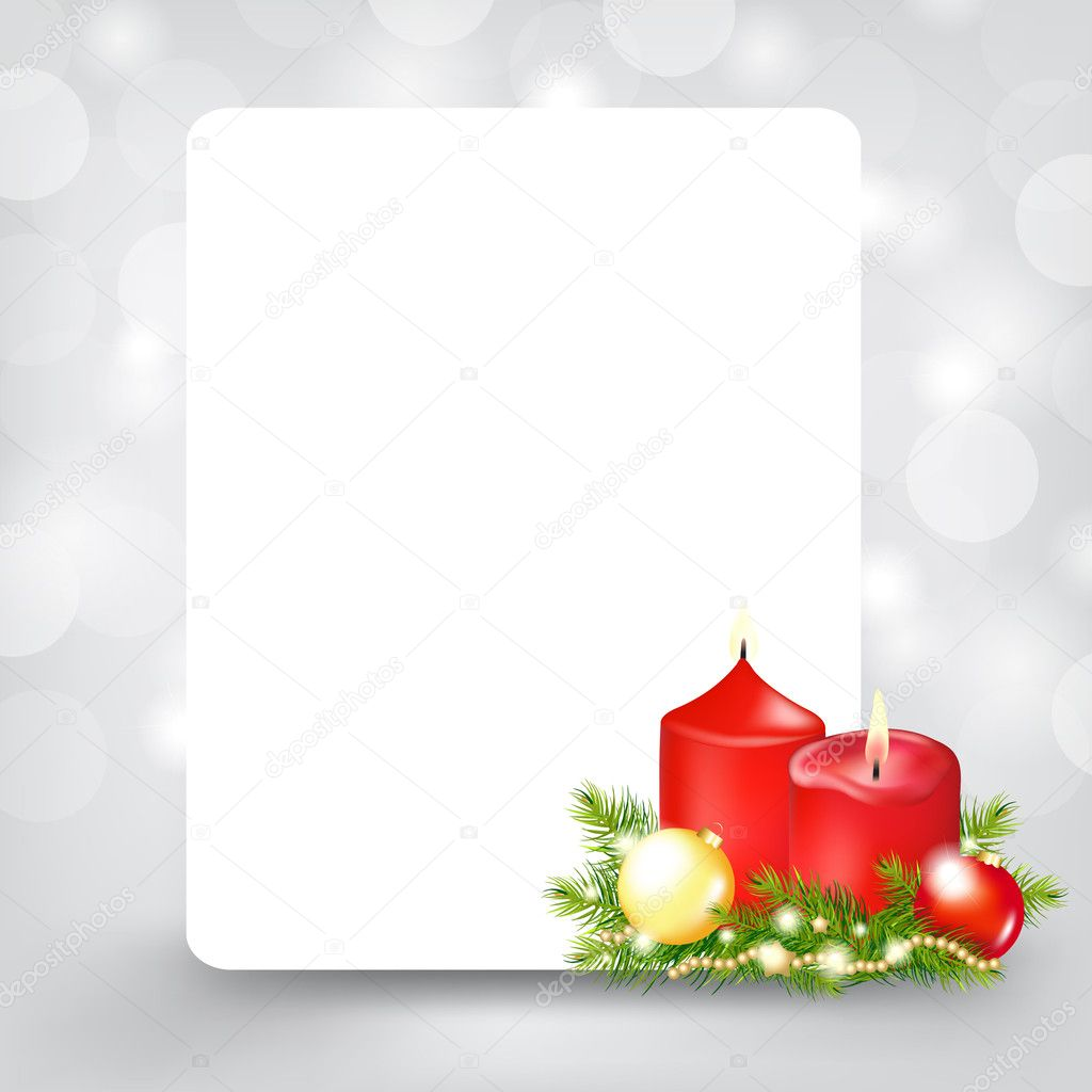 Xmas Silver Card, Vector Illustration — Stock Vector #8198045