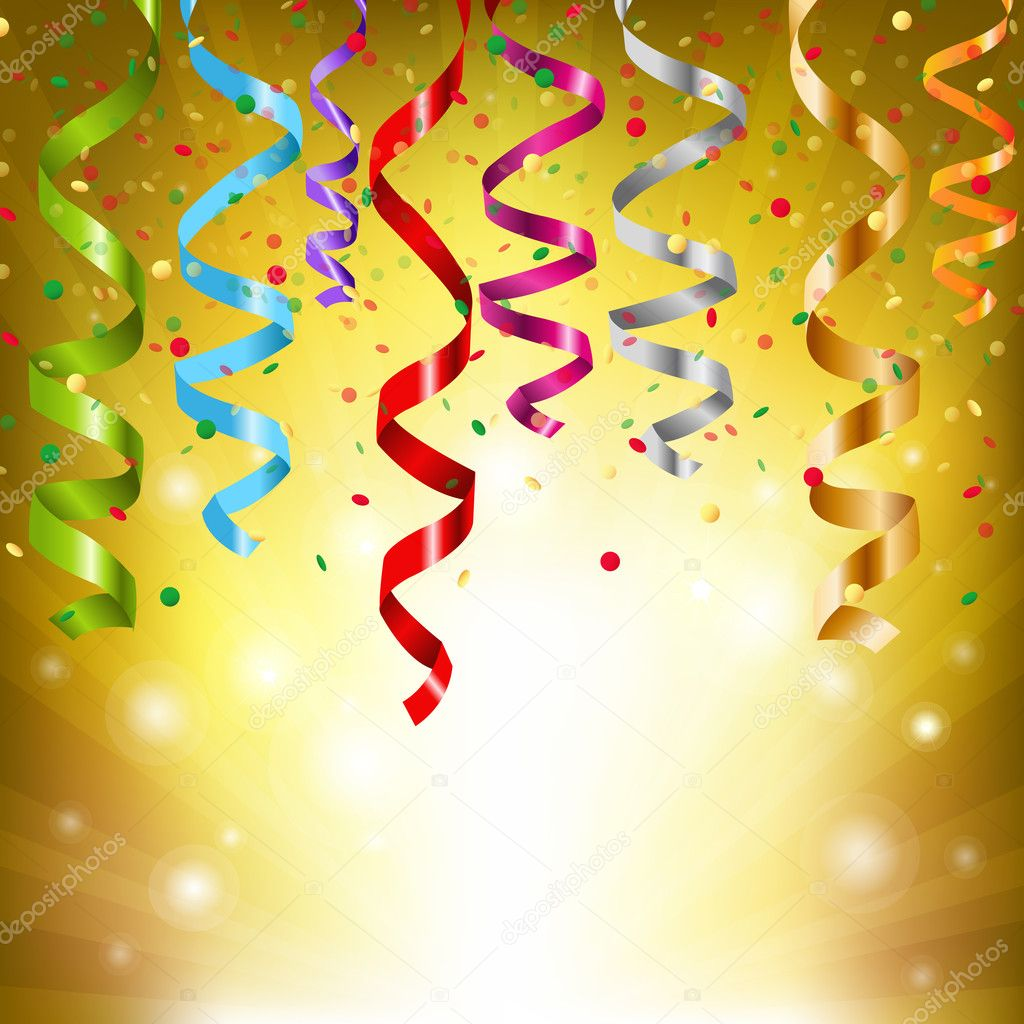 Party Streamers, Vector Illustration — Stock Vector #8465949