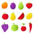 Fruits And Vegetables — Stock Vector #8485538