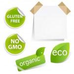 Eco Labels Set — Stock Vector #8626056